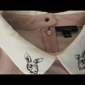 Victoria Beckham Pastel Bunny Shift Dress